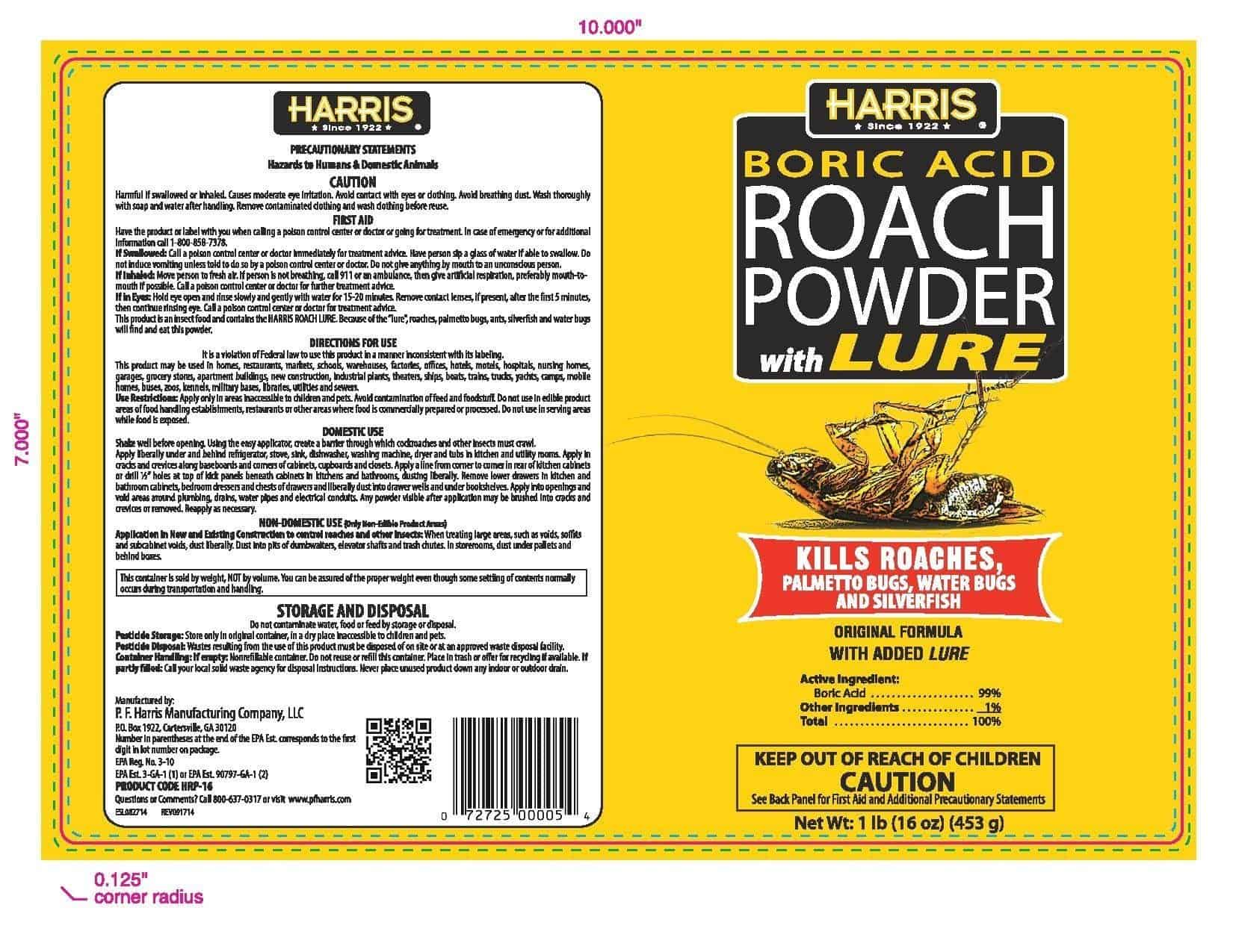 Roach Killer Boric Acid