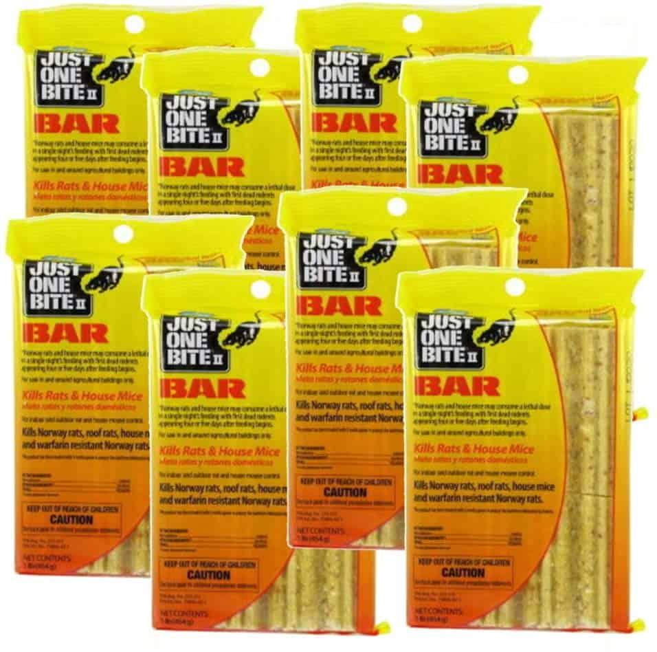 Just One Bite II 16 oz. Rodent Rat Bait Cake Blocks - warfarin resistant rodents