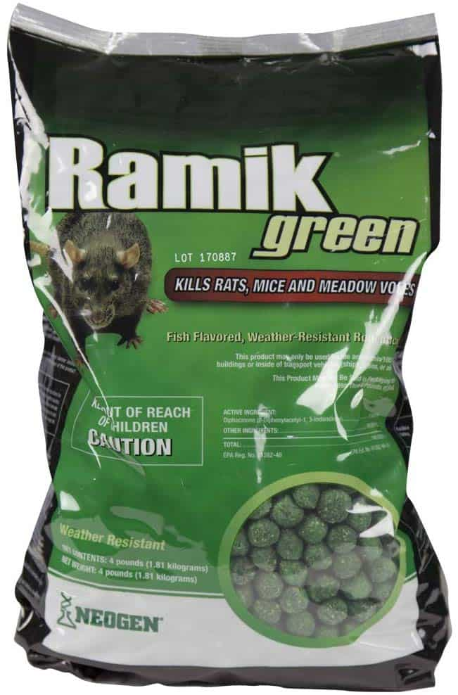 Neogen Ramik Green Fish Flavored Weather Resistant Rodenticide   Nuggets - weather resistant product